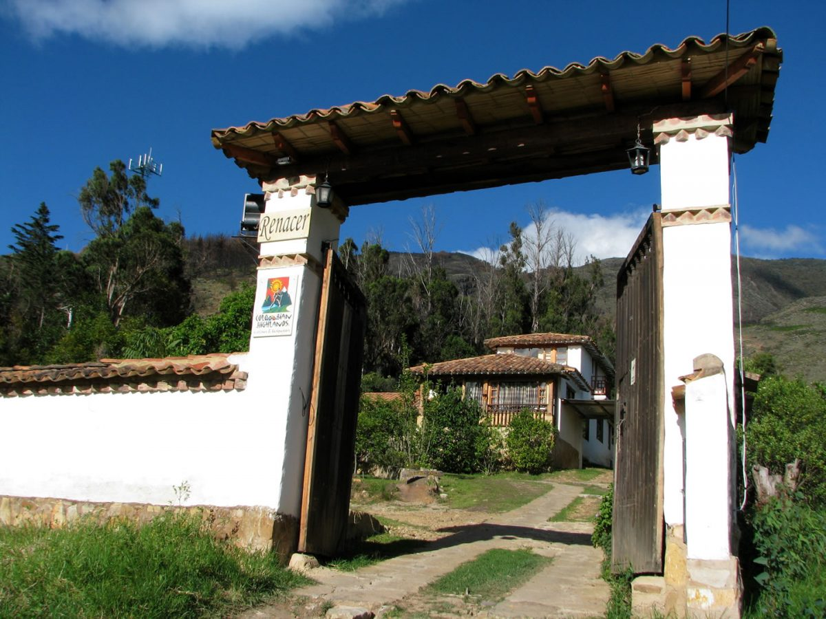 2. Our main gate in Renacer Hostel in Villa de Leyva